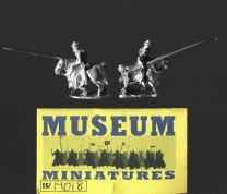 Museum Miniatures 15mm Medieval MD18 Household Men at Arms with Lance (x 4)